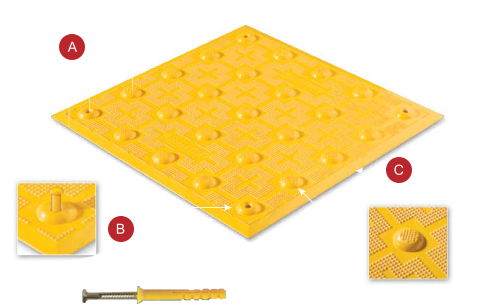 Top of the surface Applied Tile